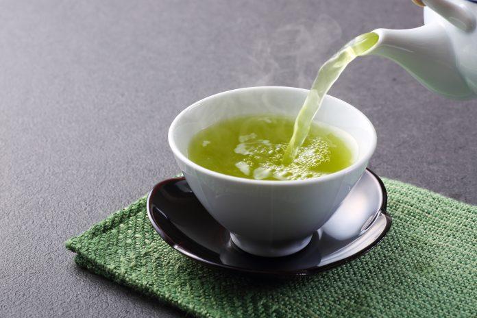 Esta es una fotografía del té verde japonés