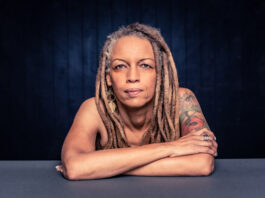 Portrait of a confident African American Woman with dreadlocks