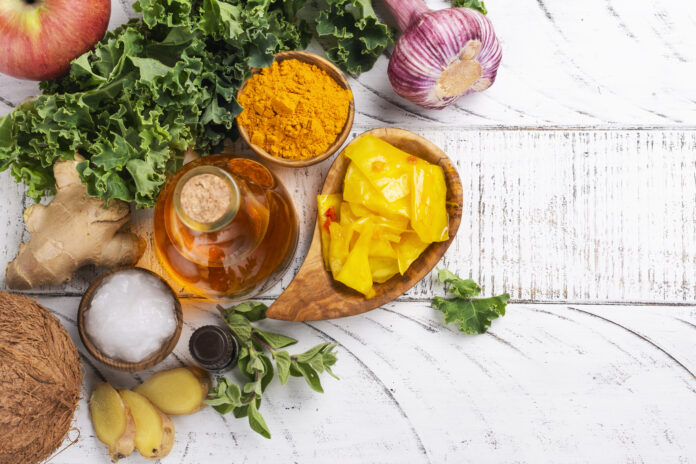 Jedzenie w diecie Candida. Asortyment żywności, która zwalcza candidę. Miejsce do kopiowania
