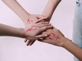 Sisterhood is powerful - Feminism stock photo
