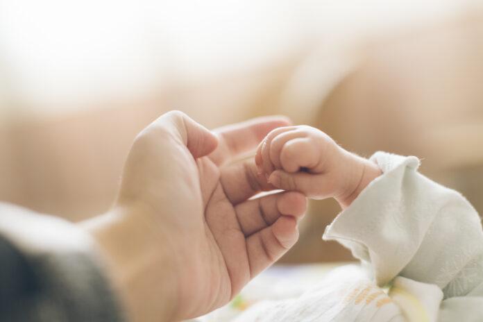 Baby, Neugeborenes, Hand, Schwangere, Schlafen