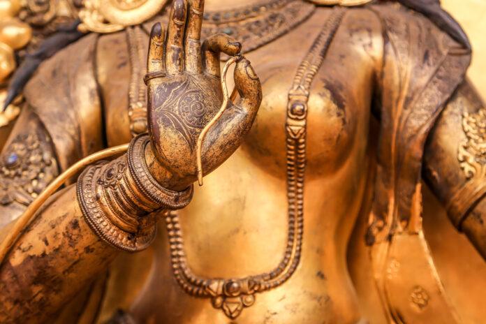 Beautiful bronze statue at Durbar Square, Nepal