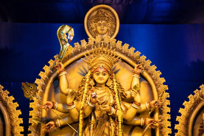 Goddess Durga idol, Contai, Purba Medinipur, West Bengal, India