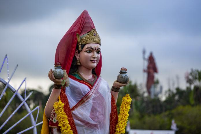 Statue of Goddess Lakshmi.